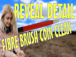 clean metal detecting finds with a fibre brush